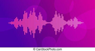 Pink violet Sound waves