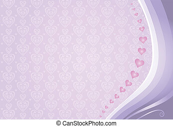 pink & violet valentine's card background