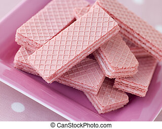Pink Wafer Biscuits