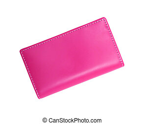 pink wallet isolated on white background