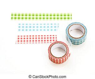 Pink washi tape roll.