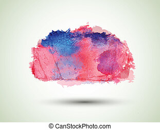 watercolor blot