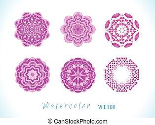 Pink watercolor set