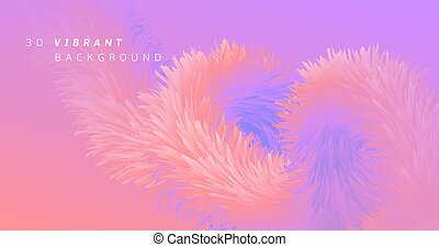Pink Wave Fluid. Neon Graphic Template. Color