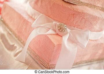 Pink Wedding Cake Close-up