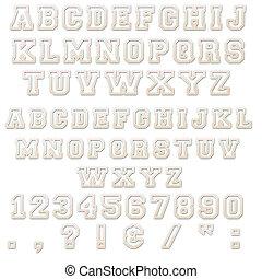 Pink & White Block Alphabet Letters