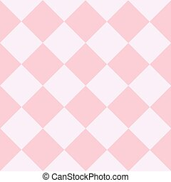 Pink White Chess Board Diamond Background