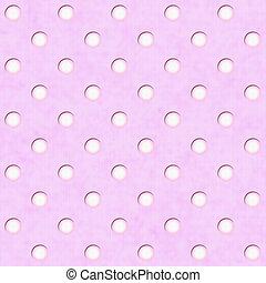 Pink White Polka Dot Fabric Background