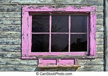 Pink Window Frame