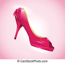 Pink woman shoes