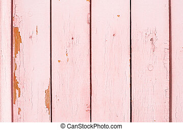Old wooden painted surface with flaky paint