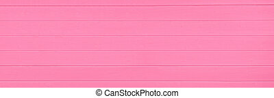 Pink wooden texture background. Copy space, text place. Wood finish material shop. Natural banner. Painted plank timber. Wall lining. Rustic mockup. Indoor interior. Horizontal lines. Spring color