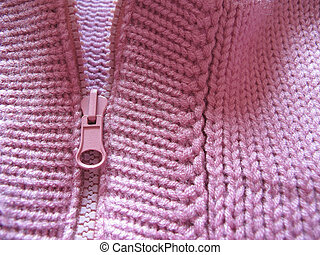 pink wool sweater texture with opened zipper