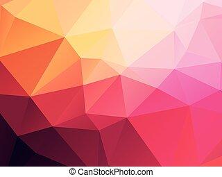 pink yellow geometric background
