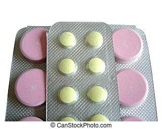 Pink yellow pills - Pink and yellow pills