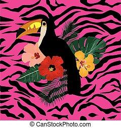 pink zebra pattern toucan