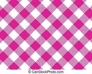 pinkgingham, vector, geweven, eps8