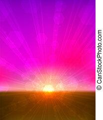 Pinkish sunset background