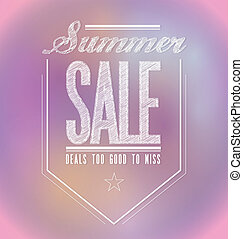 pinks summer sale poster sign banner