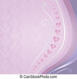 pink&violet, kort, valentinkort