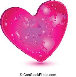 pinky, coração, logotipo