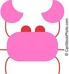 pinky crab illustration vector flat design