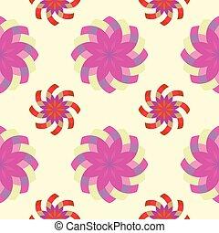 pinky, model, geometrisch, bloemen