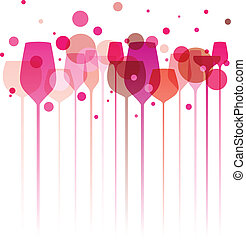 Pinky Party Glasses - A funky illustration of various ...