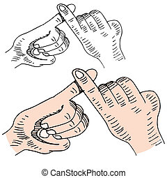 Pinky Swear - An image of a pinky swear handshake.