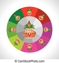 pinnacle concept - pinnacle round of colorful wheel vector