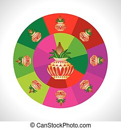 pinnacle round of colorful wheel vector