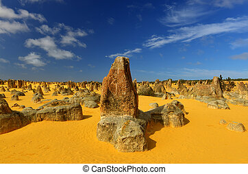 Pinnacles Desert, Australia - The Pinnacles in the Nambung ...
