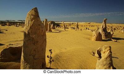 Pinnacles desert POV - Ground POV hyper lapse in the...