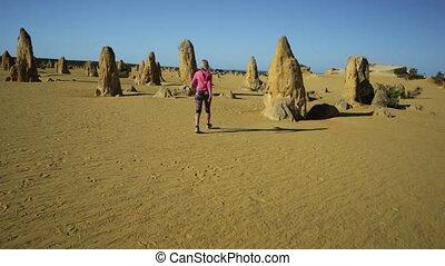 Pinnacles Desert walker - Western Australia travel freedom...