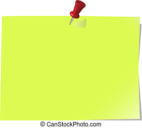 pinned note paper, green