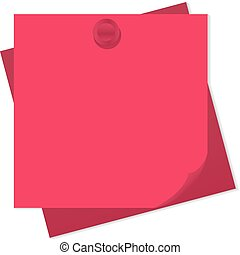 pinned note paper