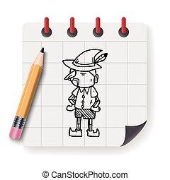 pinocchio doodle
