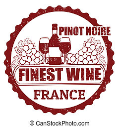 Pinot Noir, France stamp - Fine Wines, Pinot Noir, France...