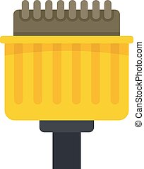 Pins adapter icon. Flat illustration of pins adapter vector icon isolated on white background