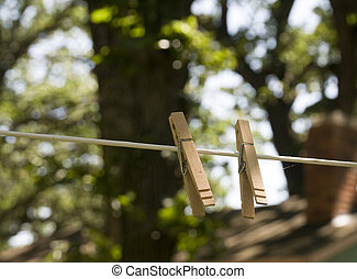 Pins on Clothesline