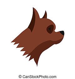 Pinscher dog icon, flat style