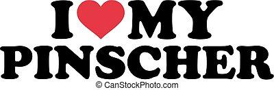pinscher, meu, amor