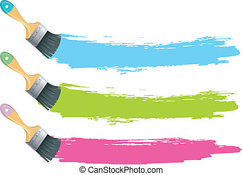 farbe pinsel spritzen verf gbar bunte b rsten hintergrund vektor acht paint wei es. Black Bedroom Furniture Sets. Home Design Ideas