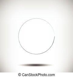 pinstripe, cerchio, grunge, sfondo nero