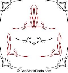 pinstripe, hjørne