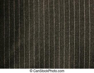 pinstriped, textura, traje