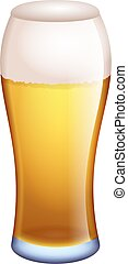 pint of ale - a cool glass of beer or lager isolated on...