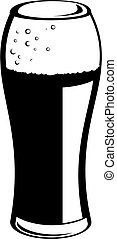 pint of ale - simple drawing of a pint of beer isolated on...