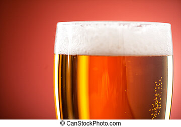 Pint of Beer Close-up. High quality photo.