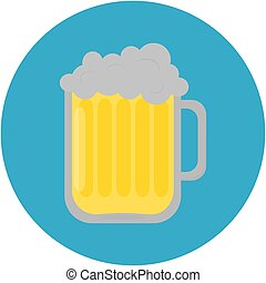 Pint of beer icon. Vector illustration.